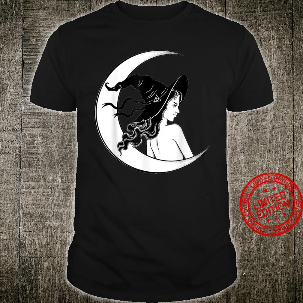 Vintage Scary Halloween Costume Witch Hat & Moon Shirt